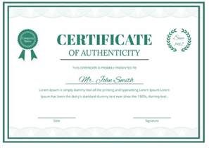 Artist Certificate Of Authenticity Template by Free Certificate Template 46 Adobe Illustrator