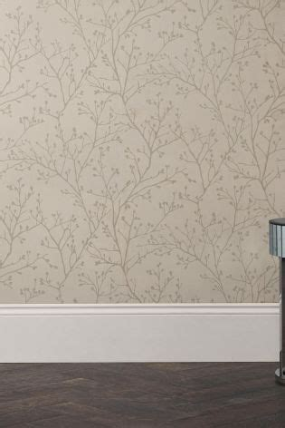 buy paste  wall metallic sprig wallpaper