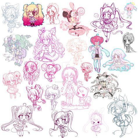 chibi doodle dump by scricch on deviantart