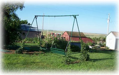 old metal swing set double k ranch ranch