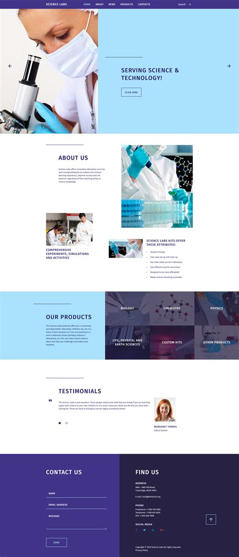 Science Website Template Free Science Website Templates