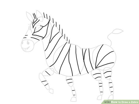 images to draw how to draw a zebra with pictures wikihow