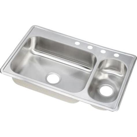 Dayton Kitchen Sinks Elkay Dayton Elite Top Mount Stainless Steel 33 In 4 Bowl Kitchen Sink Dsemr23322r4