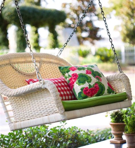 porch swing wicker porch swings prospect hill all weather wicker swing ebay