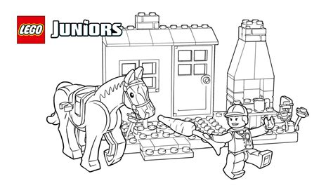 lego junior coloring pages lego 174 juniors pony stables coloring page coloring pages
