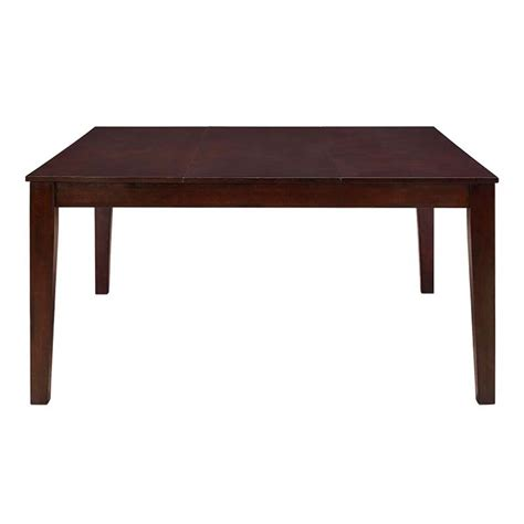 walker edison square wood dining table cappuccino tw60sqcno