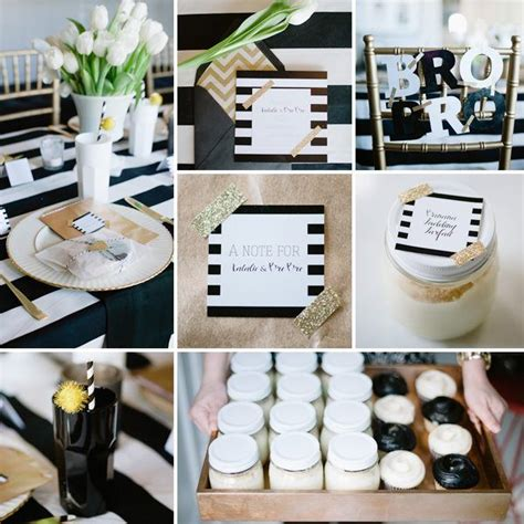 Black And White Baby Shower Ideas by 125 Best Black White Gold Baby Shower Images On
