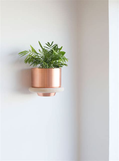 plant wall hangers indoor metallic planters by yield design house sarah le donne blog