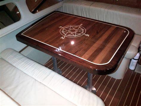 boat table gloss epoxy tables goodale marine teak