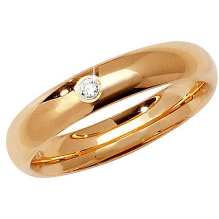 Single Wedding Ring by 4mm Single Set Yellow Gold Wedding Ring The