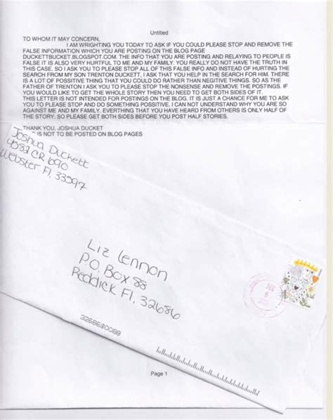 Divorce Letter Carla Was It Really Worth It Aren Duckett Correspondence
