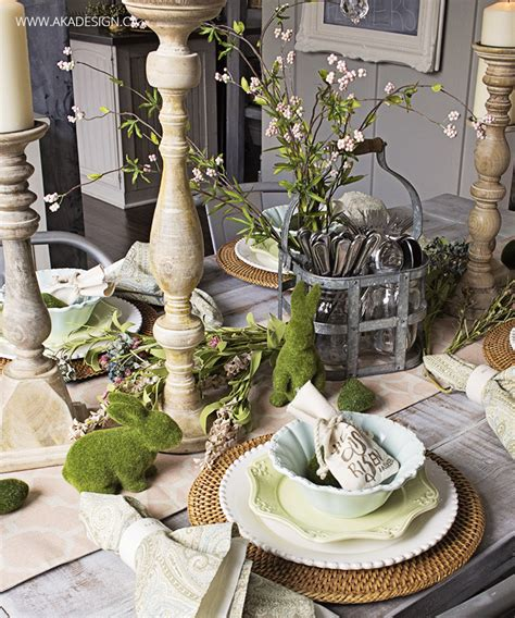 Dining Room Buffet Decorating Ideas Natural Easter Table Setting