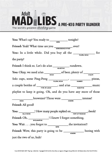 printable road trip mad libs adult mad libs books please read responsibly family