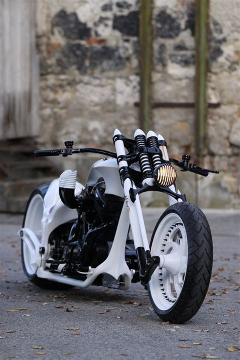 Handmade Motorcycle - one of the few choppers which goes to their white great