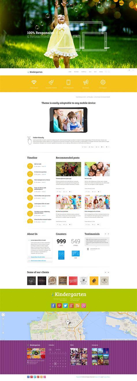theme wordpress kindergarten kindergarten children wordpress theme by themerex