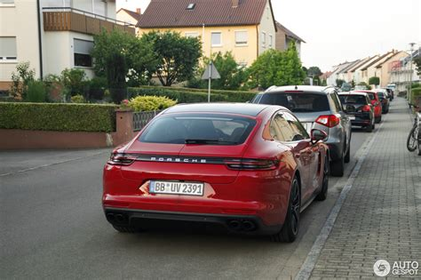 porsche panamera turbo red porsche panamera turbo s e hybrid in deep red looks a