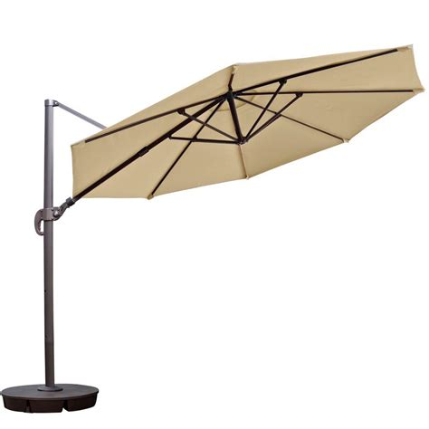 Cantilever Patio Umbrella Island Umbrella Freeport 11 Ft Octagon Cantilever Patio Umbrella In Beige Sunbrella Acrylic