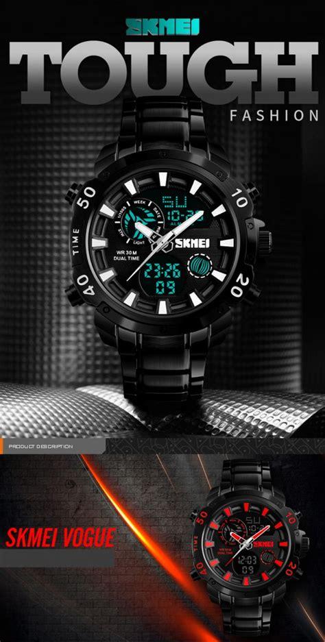 Jam Tangan Analog Digital Elegan 6015 2 Diskon skmei jam tangan digital analog pria 1306 black blue