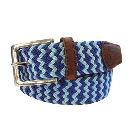Woven Belt and zig zag woven belt blue in blue for lyst