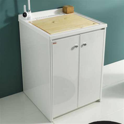 vasca lavapanni mobile lavanderia 60x60 con lavatoio in polipropilene jos 232
