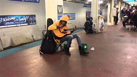 subway performer stuns crowd with fleetwood mac s quot landslide quot chicago il blue line