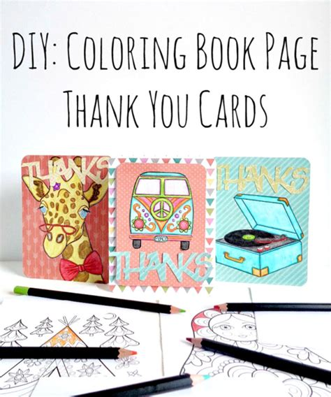 diy coloring book diy coloring book page thank you cards favecrafts