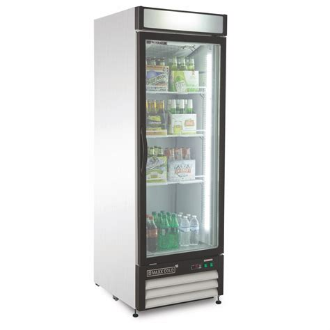 Single Door Glass Fridge Maxx Cold Single Glass Door Refrigerator 23 Cu Ft Appliances Refrigerators Freezerless
