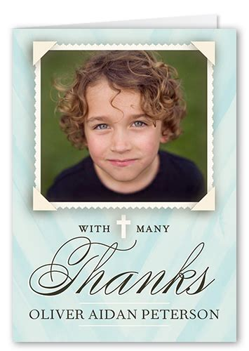 Holy Communion Thank You Cards Template by Holy Communion Boy 3x5 Folded Greeting Card Thank You