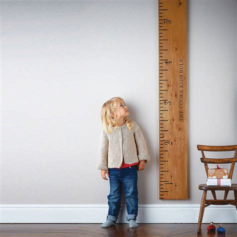 picture height personalised wooden ruler height chart kids rule by