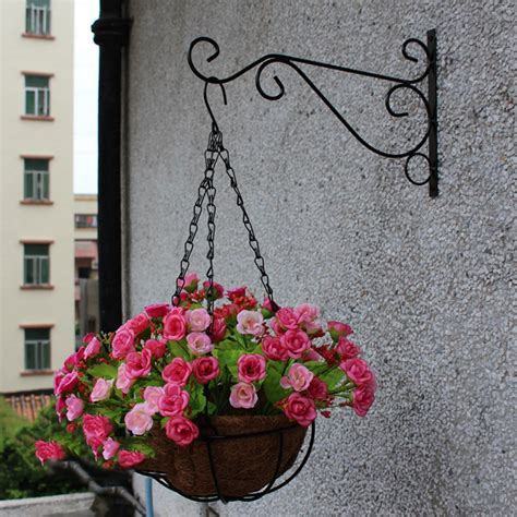 garden wall hooks plant hanger iron balcony railings garden wall hook