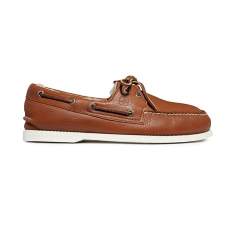 boat shoes in winter lyst sperry top sider ao 2eye winter boat shoes in brown
