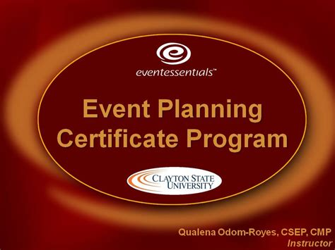 event planning certificate event meeting planning