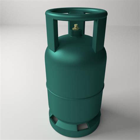 gas cylinder  model ds fbx blend dae cgtradercom