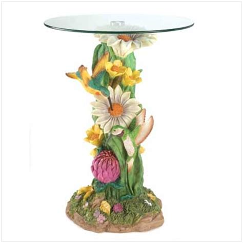 decorative themed figure round glass top accent table ebay