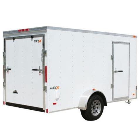 werx 1868 lb enclosed cargo trailer wx612 the home depot