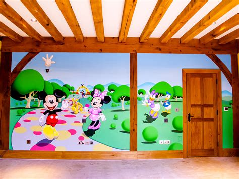 mickey mouse clubhouse wall mural mickey mouse clubhouse mural sacredart murals