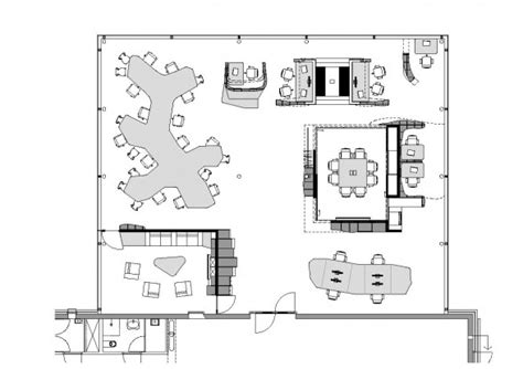 Small Home Office Floor Plans by Ynno Modern Small Office Floor Plans 588x415 Co Working