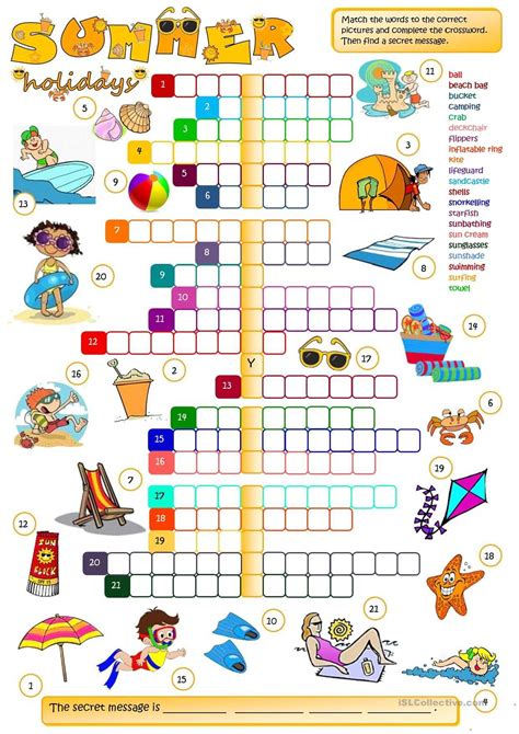 Le Numbers 1to 20 K2 summer crossword stories to read hellokids