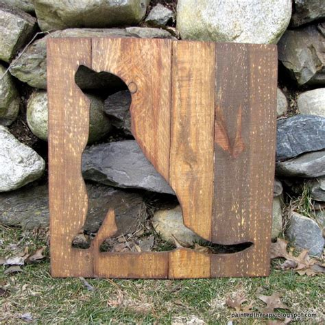 reclaimed wood home decor dog silhouette from reclaimed pallet wood by thereclaimedlife