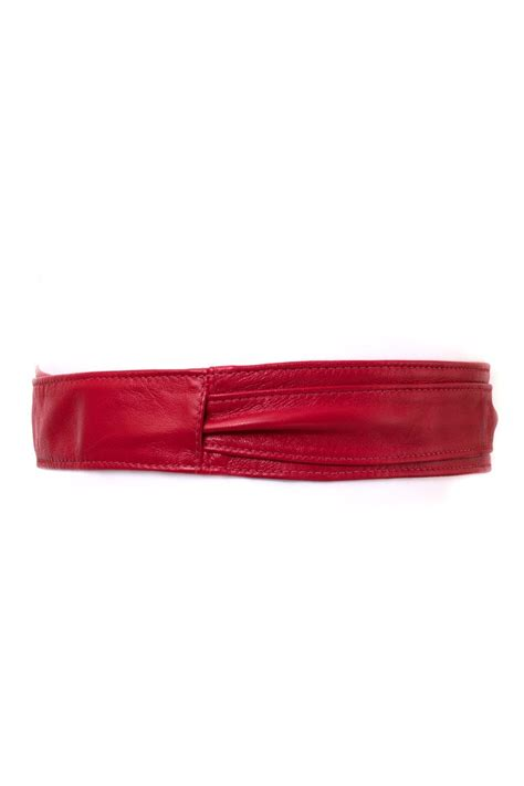bronsino narrow leather obi wrap belt from vancouver by