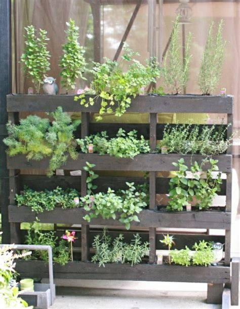 Balcony Herb Garden Ideas Wooden Pallets Furniture For Garden And Balcony Diy Ideas