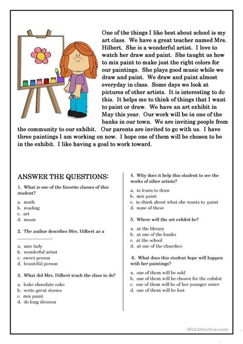 free printable english worksheets beginners reading comprehension for beginner and elementary students