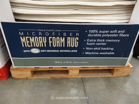 costco memory foam rug microfiber memory foam rug