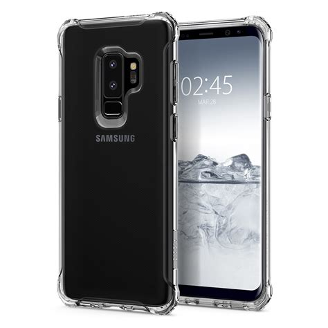 Spigen Galaxy S9 Rugged Clear Tpu Soft Clear Anti spigen original rugged soft for samsung