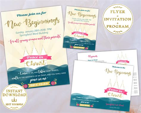 Lds Flyers Templates