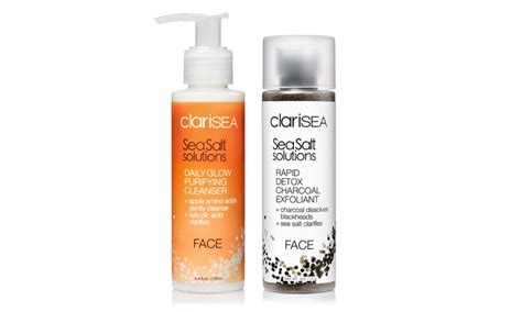 Clarisea Sea Salt Solutions Pore Detox by Up To 42 On Clarisea Cleansing Duo Groupon Goods