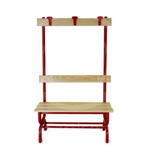bench with coat hanger locker room bench wooden seat with backrest and coat hanger