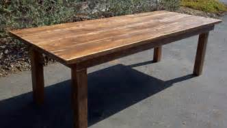 Farm Wood Dining Table Quality Handcrafted Farm Tables Rustic Furniture Southern Ca Nationwide Shipping