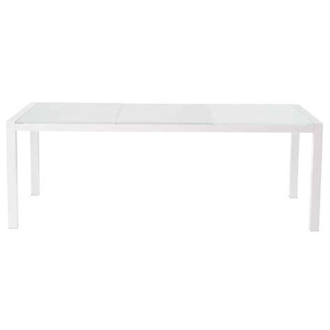 tavolo in vetro temperato tavolo bianco da giardino in vetro temperato e alluminio l