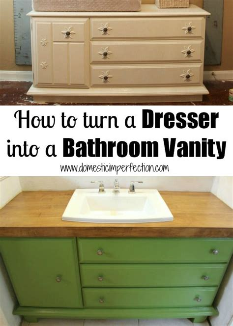 how to make a dresser into a bathroom vanity how to turn a dresser into a bathroom vanity diy do